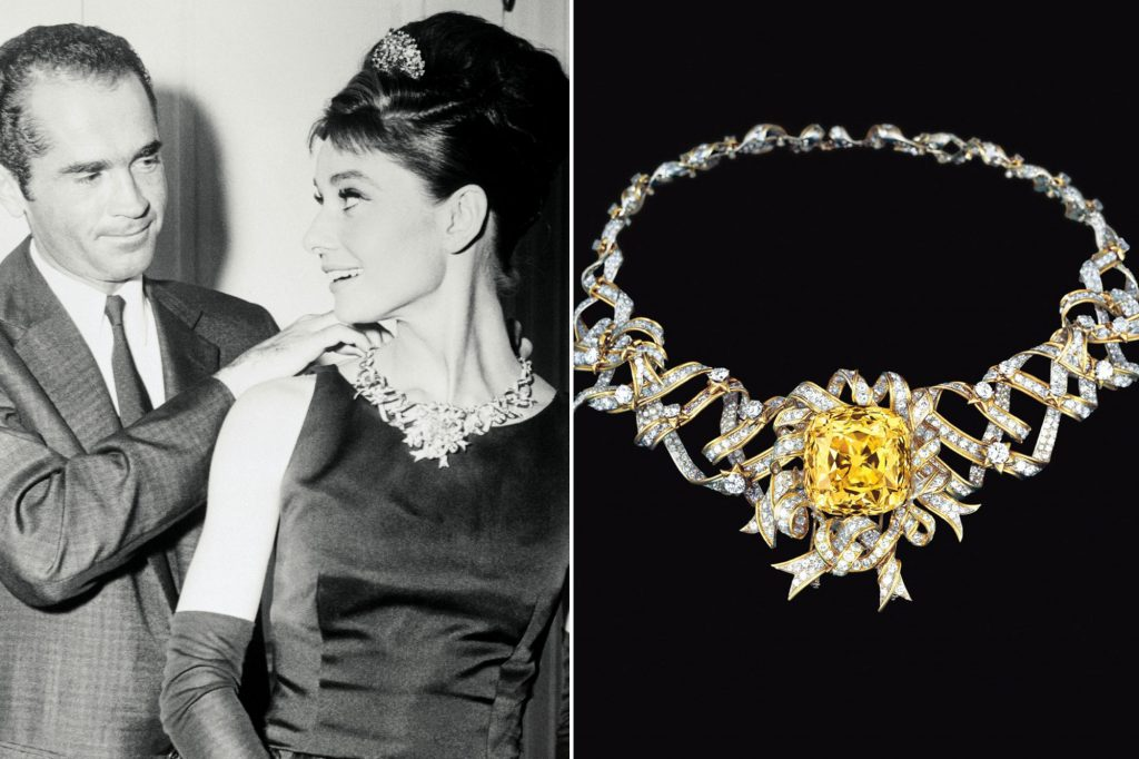The Tiffany famous diamond, once worn by Audrey Hepburn.