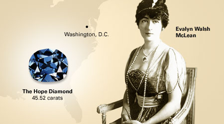 Mrs. Evalyn McLean one of the owners of the famous diamond