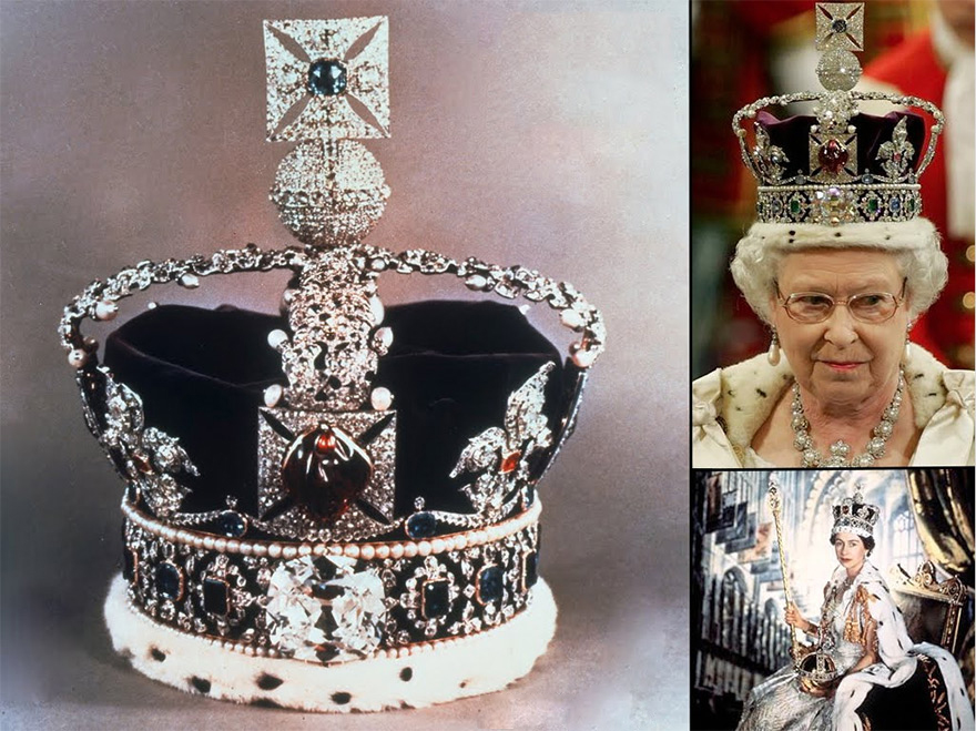 The famous diamond Koh-i-Noor is set in the Crown of Queen Elizabeth