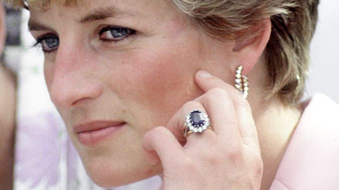 Princess Diana's engagement ring colored gemstone engagement rings