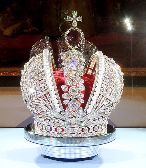The 398-carat ruby-red gem that tops the Imperial Crown of Russia commissioned by Catherine the Great in 1763 turned out to be, you guessed it, a spinel.
