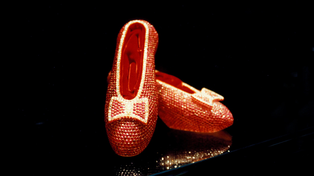 To commemorate the 50th anniversary of The Wizard of Oz, Harry Winston created real ruby slippers set with 4,600 rubies.
