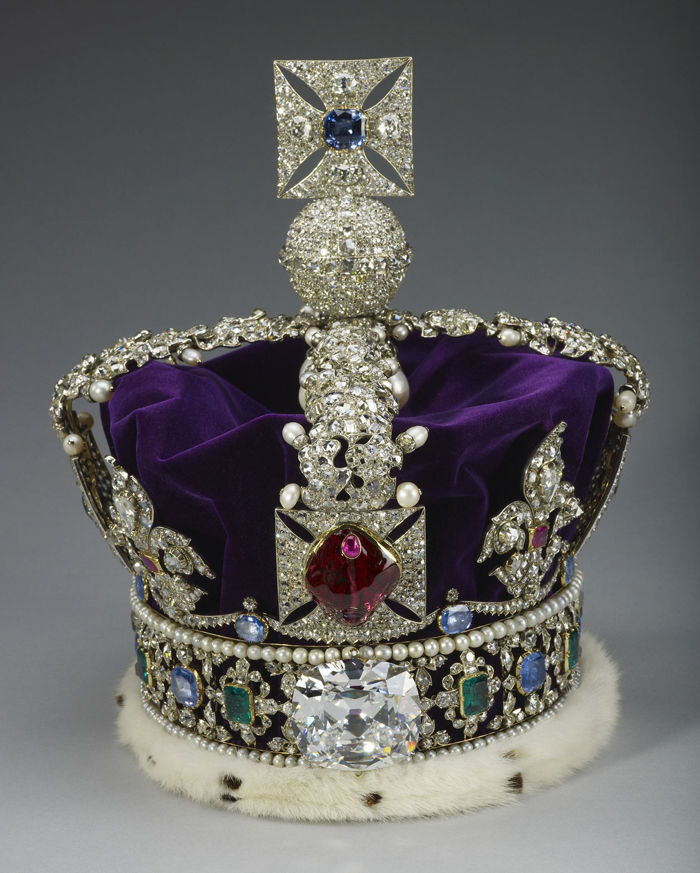 Black Prince's Ruby set in Imperial State Crown of the United Kingdom