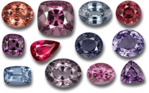 Amazing spinel colors