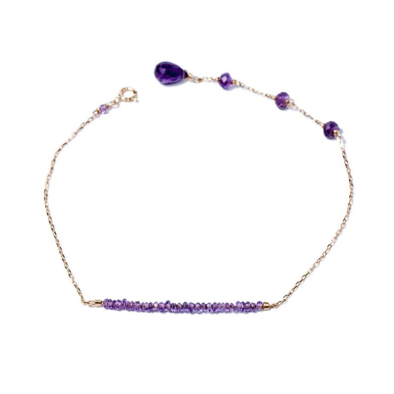 Amethyst, birthstone for February - Gemme Couture Rainbow Amethyst Bracelet