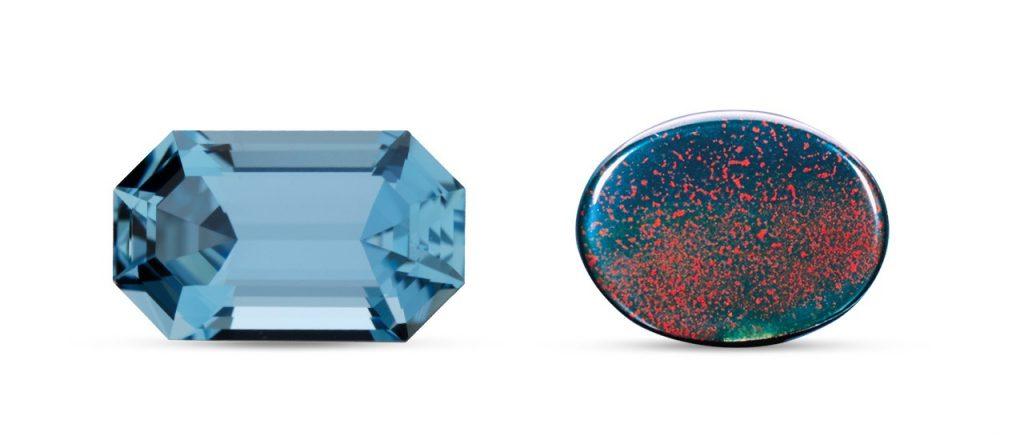 March birthstone: Aquamarine and bloodstone